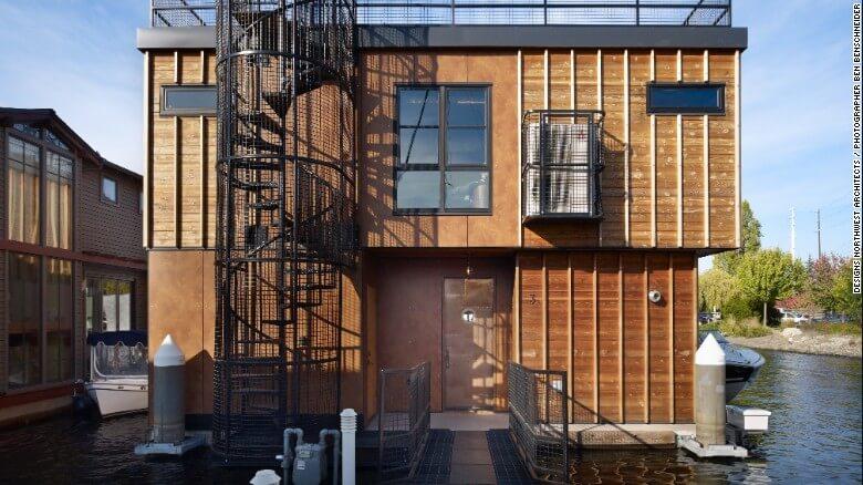 Nuevas construcciones de casas flotantes te inducirán directo a la vida marina 10
