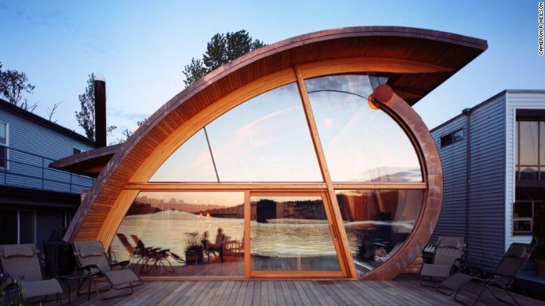 Nuevas construcciones de casas flotantes te inducirán directo a la vida marina 16