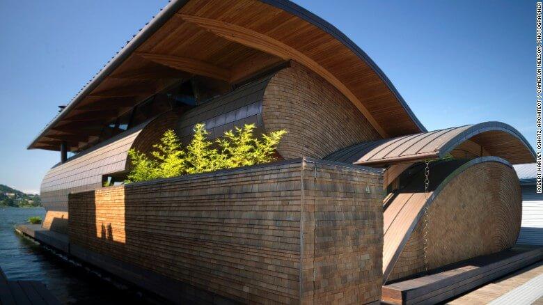 Nuevas construcciones de casas flotantes te inducirán directo a la vida marina 17