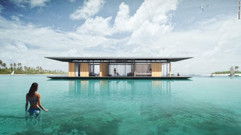 Nuevas construcciones de casas flotantes te inducirán directo a la vida marina 20