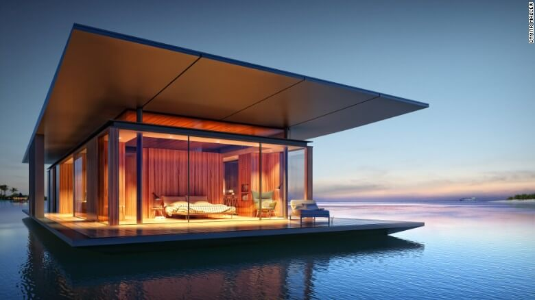 Nuevas construcciones de casas flotantes te inducirán directo a la vida marina 22
