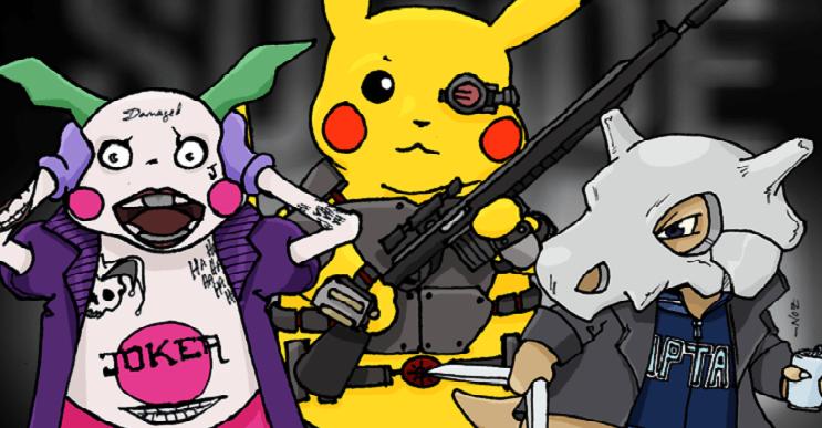 Pokémon y el Suicide Squad se unen en estas divertidas ilustraciones