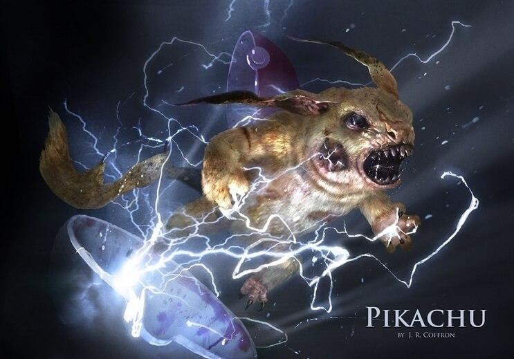 PokeMonstrosities Los terroríficos pokémones que no atraparás ni en tus peores pesadillas - Pikachu