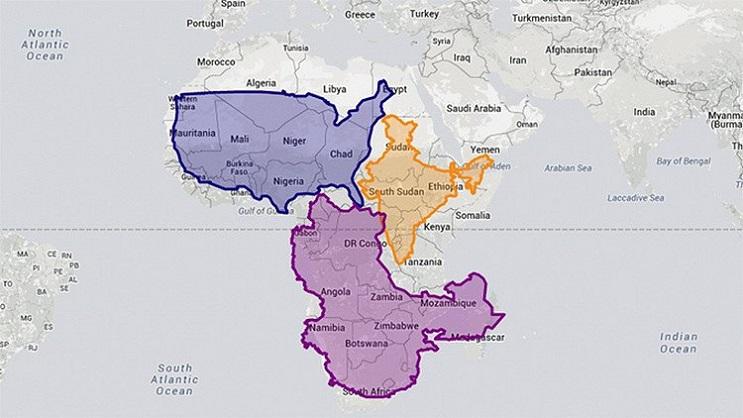 Quieres saber cuál es el tamaño real de tu país Este mapa interactivo te ayudará - África 1