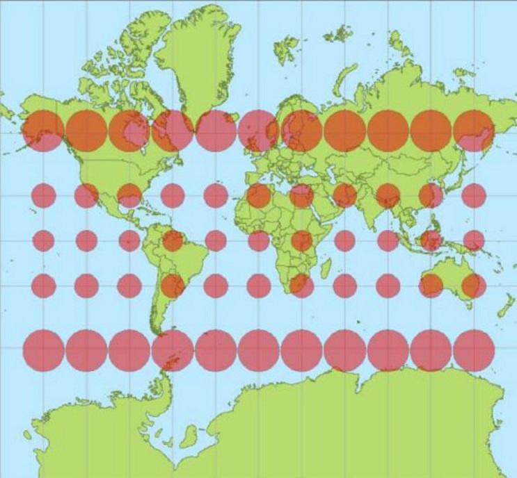 Quieres saber cuál es el tamaño real de tu país Este mapa interactivo te ayudará 1