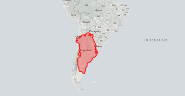 Quieres saber cuál es el tamaño real de tu país Este mapa interactivo te ayudará - Argentina y Groenlandia