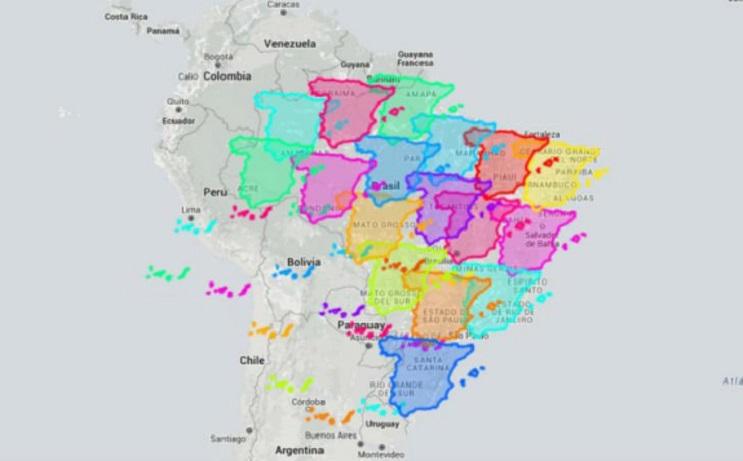 Quieres saber cuál es el tamaño real de tu país Este mapa interactivo te ayudará - Brasil