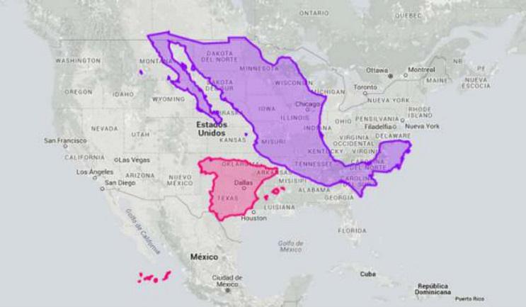 Quieres saber cuál es el tamaño real de tu país Este mapa interactivo te ayudará - España y Estados Unidos