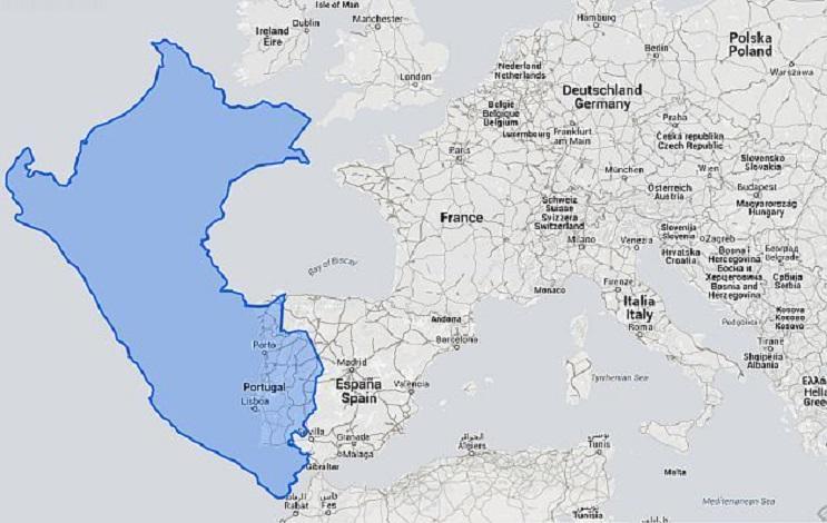 Quieres saber cuál es el tamaño real de tu país Este mapa interactivo te ayudará - Perú 1