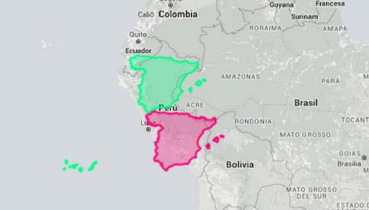 Quieres saber cuál es el tamaño real de tu país Este mapa interactivo te ayudará - Perú