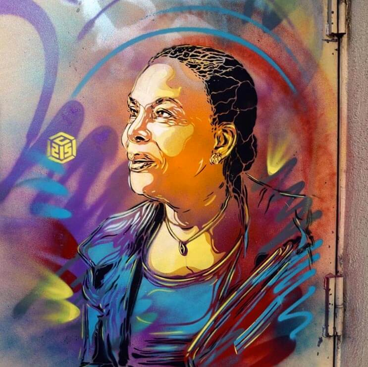 Tributo a las mujeres más poderosas por el artista urbano C215 5