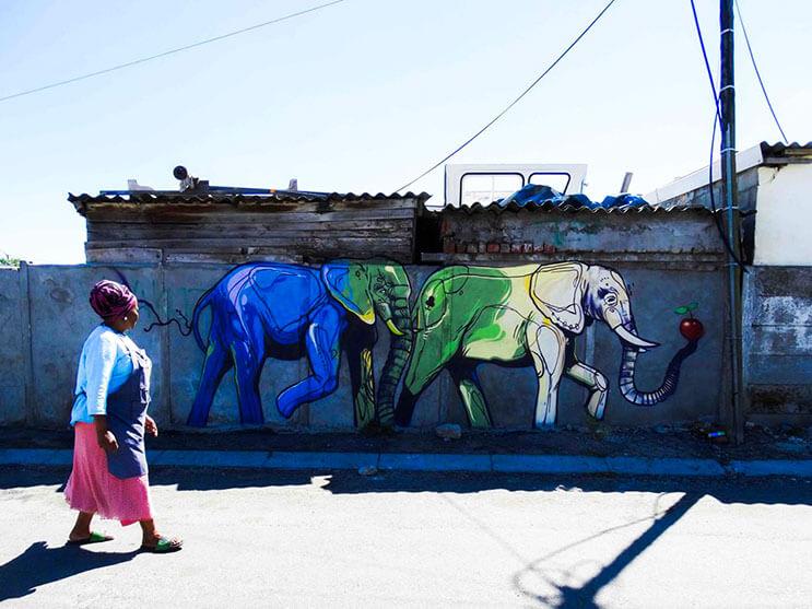 Una serie de graffitis de elefantes buscan dar esperanza a Sudáfrica 12
