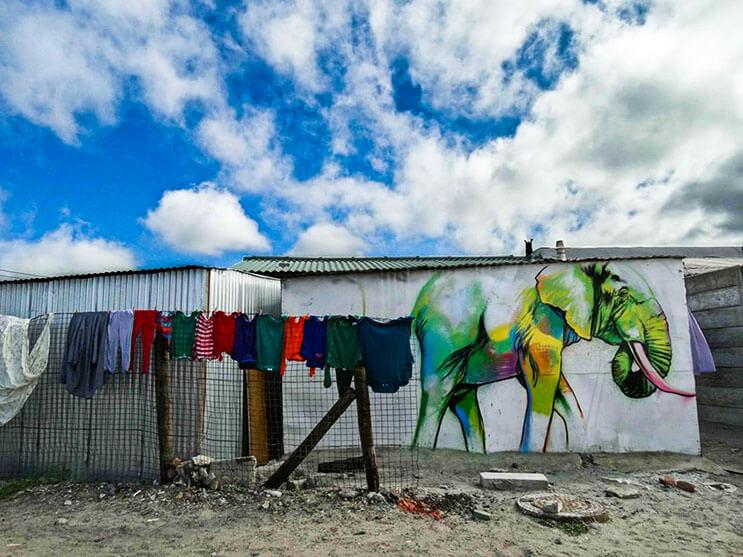 Una serie de graffitis de elefantes buscan dar esperanza a Sudáfrica 14