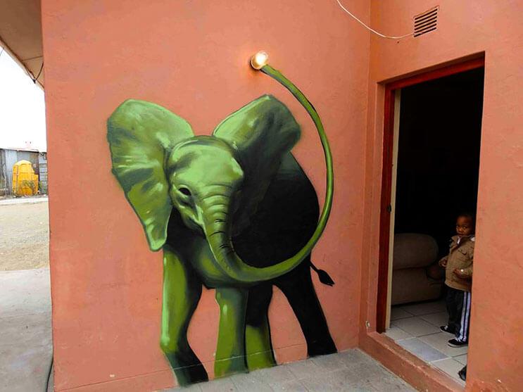 Una serie de graffitis de elefantes buscan dar esperanza a Sudáfrica 15