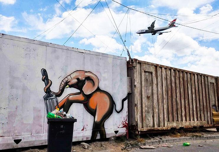 Una serie de graffitis de elefantes buscan dar esperanza a Sudáfrica 5
