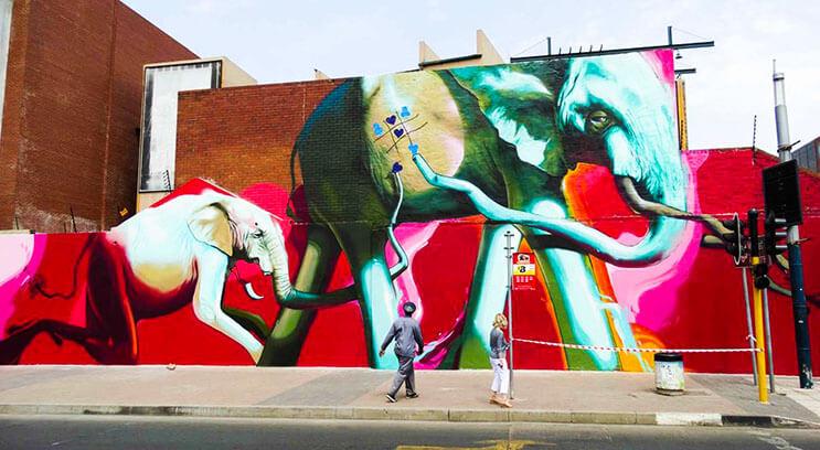 Una serie de graffitis de elefantes buscan dar esperanza a Sudáfrica 7