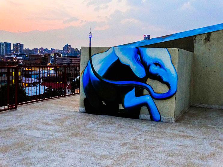 Una serie de graffitis de elefantes buscan dar esperanza a Sudáfrica 9