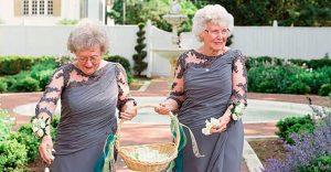 Esta novia quería involucrar a sus abuelas en su boda y terminaron robando todas las miradas