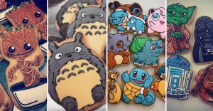 Diseño de tus personajes favoritos sobre galletas demasiado geniales como para comértelos