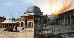 El antes y el después de una ciudad afectada por la guerra