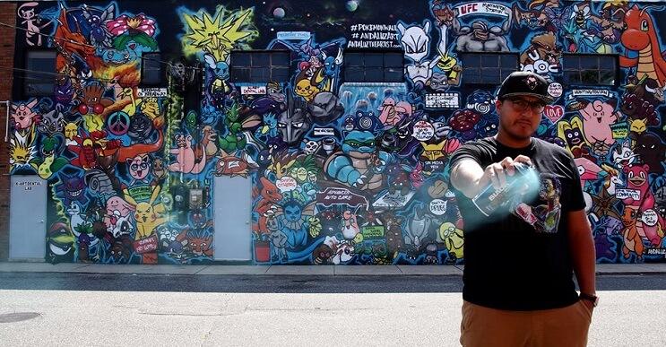 Artista recrea a los 151 Pokémons en este impresionante mural 01
