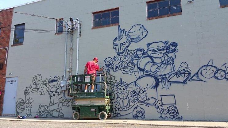 Artista recrea a los 151 Pokémons en este impresionante mural 02