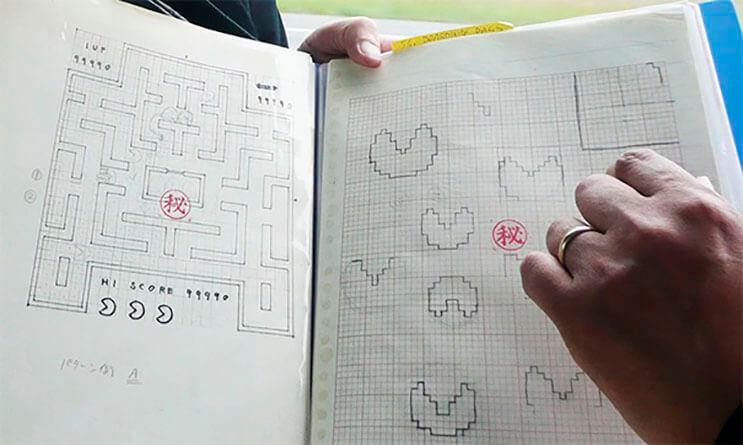 Creador de Pac-Man muestran los bosquejos que dieron vida al personaje 4