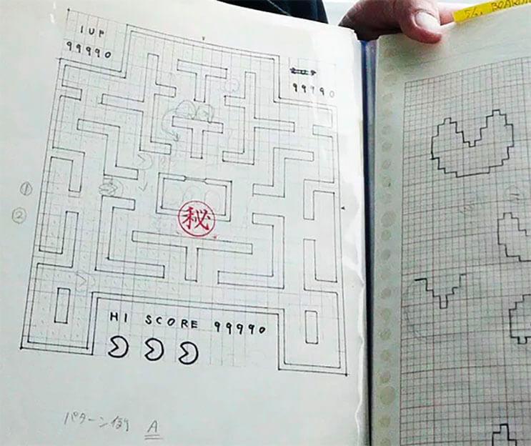 Creador de Pac-Man muestran los bosquejos que dieron vida al personaje