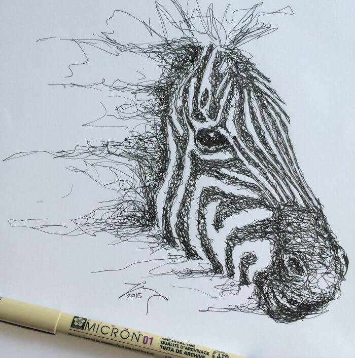 Cuando los garabatos se convierten en algo más zebra