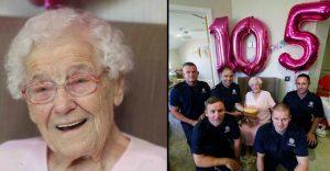 Esta abuela quería un bombero tatuado por su cumpleaños y el deseo se le cumplió