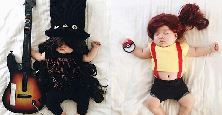 Esta bebé se ha convertido en toda una modelo de Instagram entre siesta y siesta