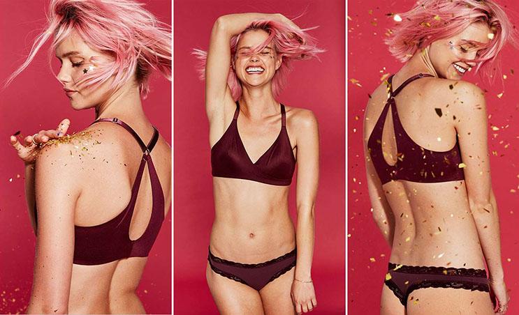 Esta campaña de ropa íntima propone decirle adiós al Photoshop