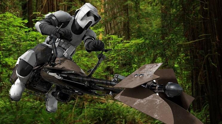 Este sujeto decidió transformar su motocicleta en la moto de La Guerra de las Galaxias 06