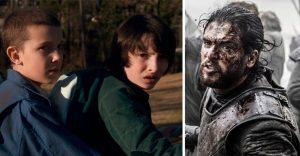 """Game of Thrones podría perder el """"trono"""" de audiencia contra Stranger Things"""