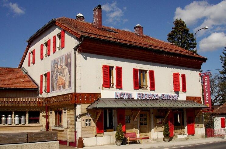 Hotel Arbez frontera Suiza Francia