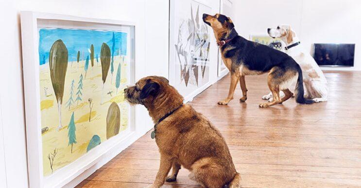 Inauguran la primera exposición de arte contemporáneo para perros