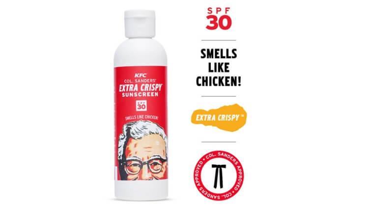 KFC lanza su bronceador con aroma a pollo frito 3