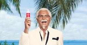 KFC lanza un bronceador con aroma a pollo frito