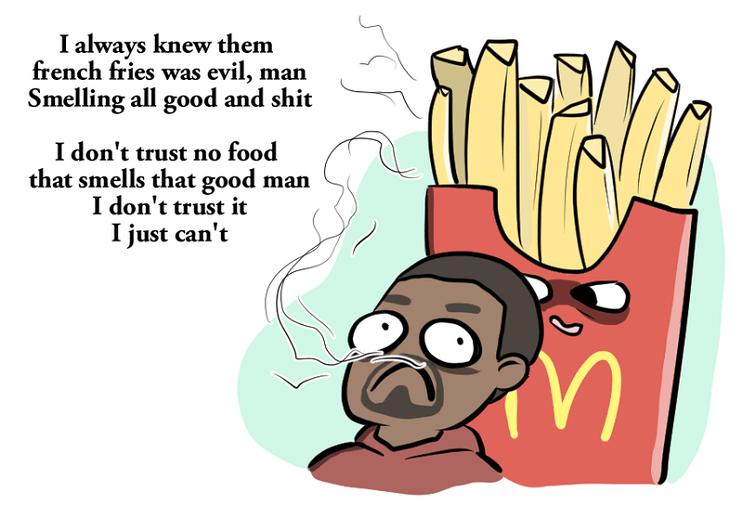 Kanye West escribe un poema para Mcdonalds 5