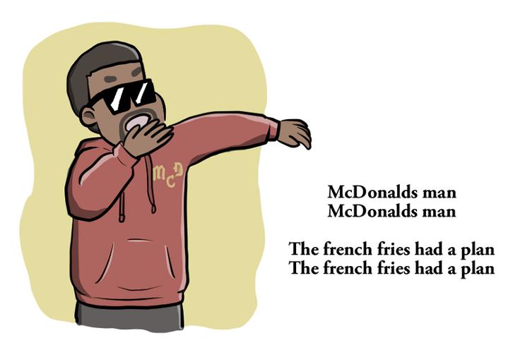 Kanye West escribe un poema para Mcdonalds1