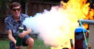La batalla del fuego contra nitrógeno líquido