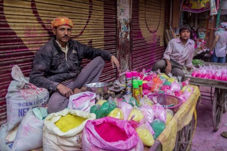 La belleza de la India durante el festival Holi 02