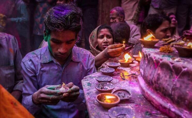 La belleza de la India durante el festival Holi 04