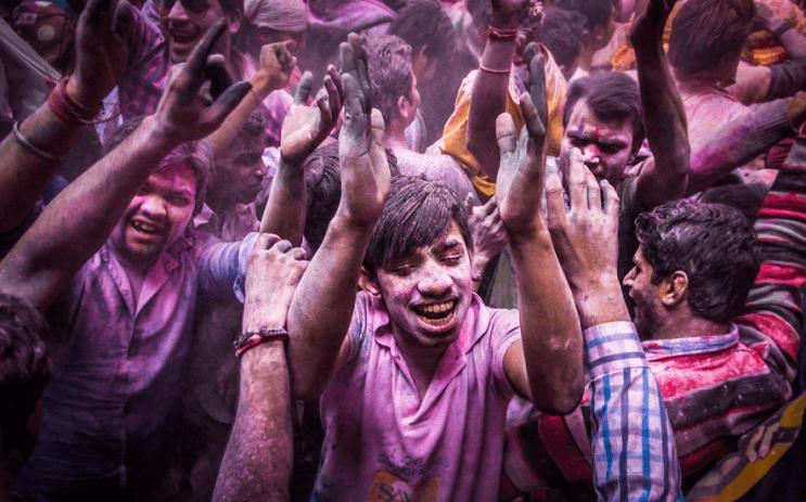 La belleza de la India durante el festival Holi 09