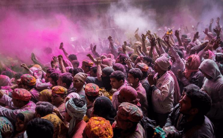 La belleza de la India durante el festival Holi 17