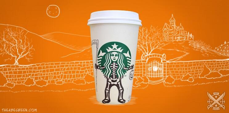 La vida secreta de la sirena de Starbucks calavera