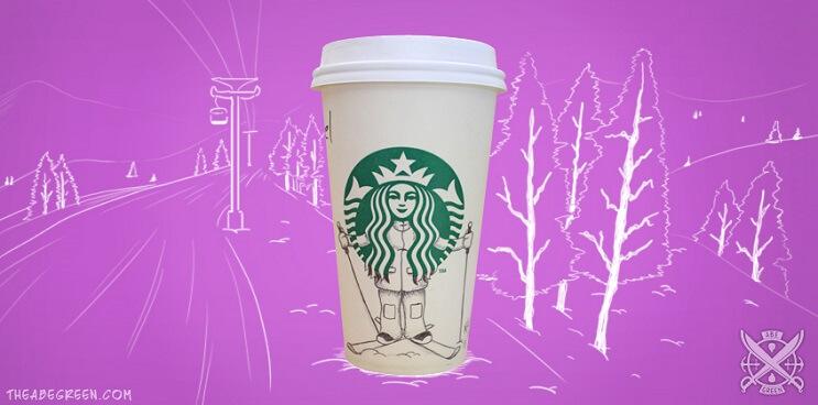 La vida secreta de la sirena de Starbucks eskiador