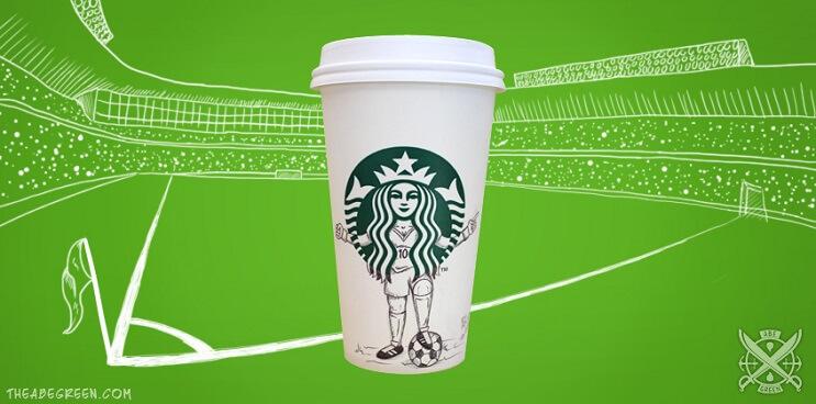 La vida secreta de la sirena de Starbucks futbol