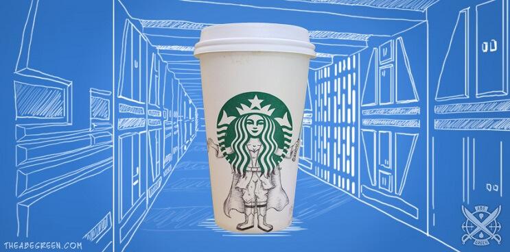 La vida secreta de la sirena de Starbucks jedi