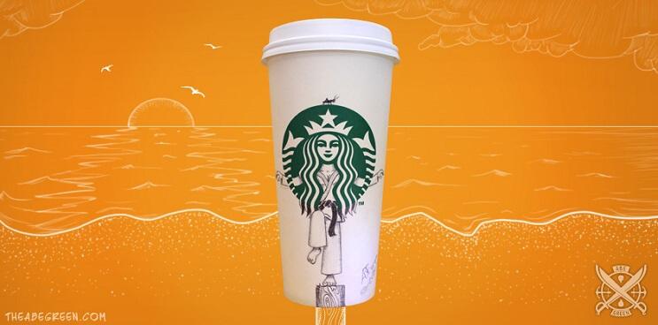 La vida secreta de la sirena de Starbucks karate kid